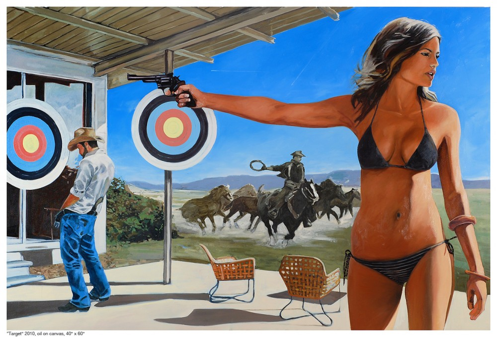 "Target oil on canvas 40""x60"" 2010"
