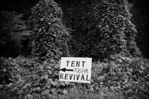 Roger May. August 2, 2014. Tent revival in Baisden, Mingo County, West Virginia